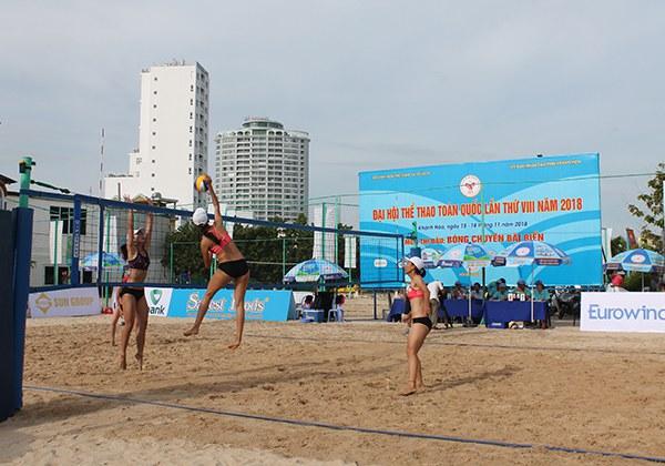 Sân bóng chuyền bãi biển