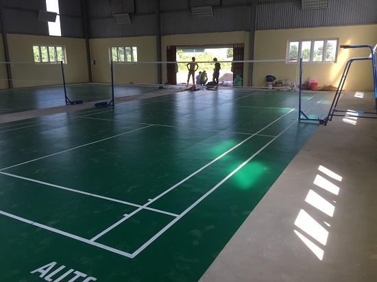 Sân cầu lông tại Châu Sơn - Hà Nam hoàn thiện