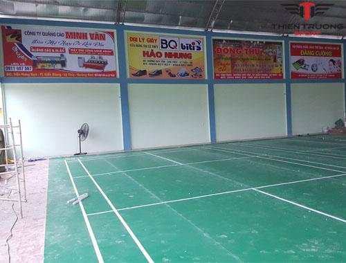 Sân cầu lông tại Quảng Bình hoàn chỉnh
