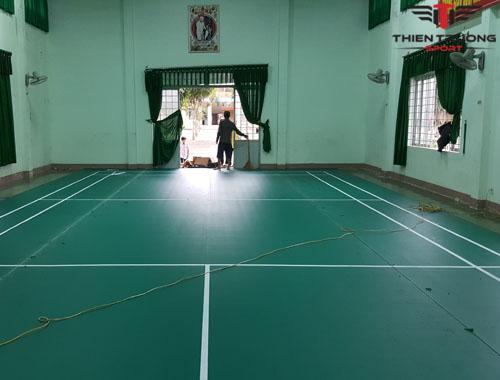 Sân cầu lông tại Trường PTDT nội trú huyện MDrăk