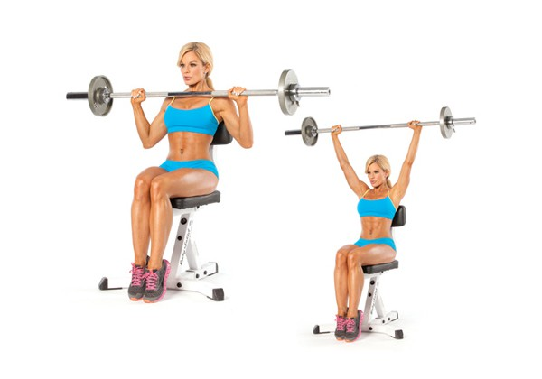 Seated Barbell Military Press