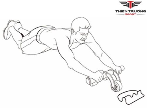 Sử dụng bánh xe tập cơ bụng AB Slimmer