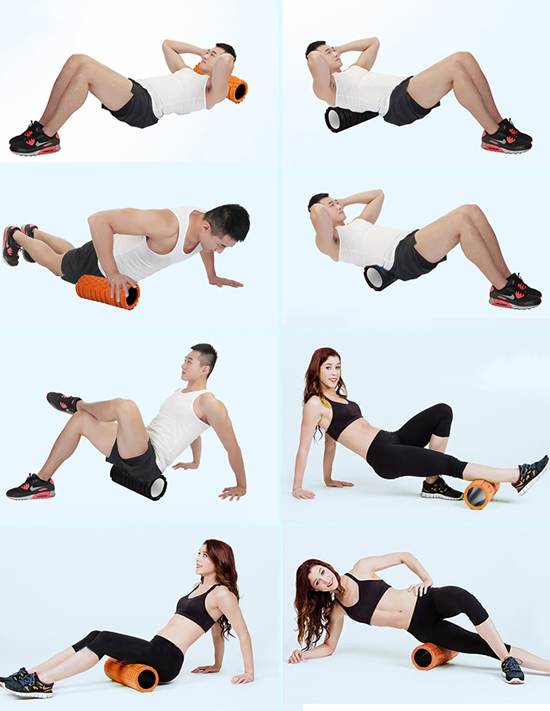 Sử dụng con lăn massage tập Yoga Foam Roller