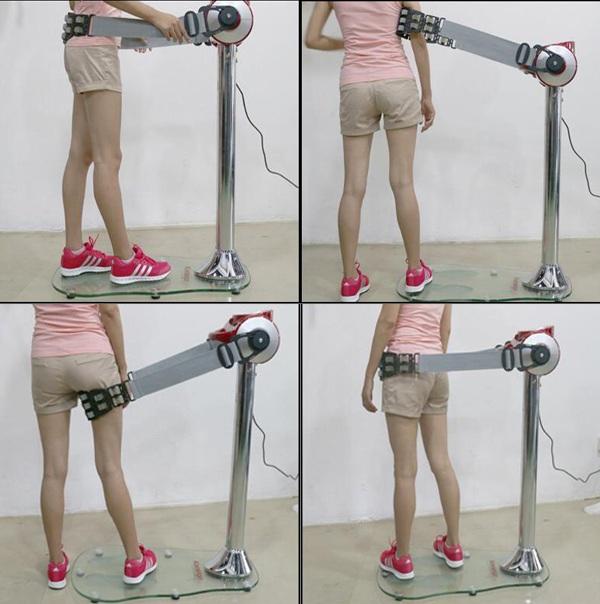 Sử dụng máy Massage rung bụng đứng