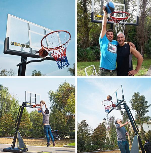 Sử dụng trụ bóng rổ S027