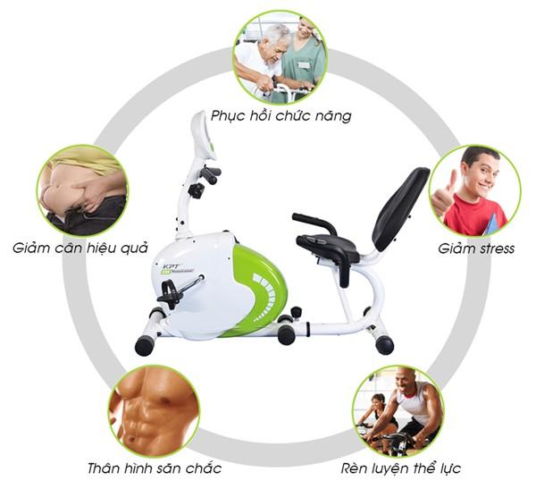 Xe đạp tập thể dục có tựa lưng cho người cao tuổi phù hợp nhất