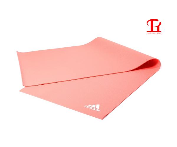 Thảm tập Yoga Adidas ADYG-10400RDFL màu hồng, dày 4mm