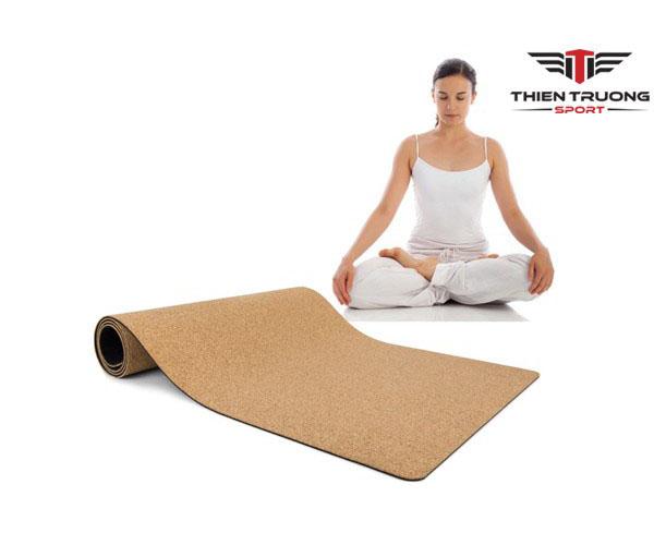 Thảm tập Cork Yoga Mat 4 ly cao cấp giá rẻ tại Thiên Trường !