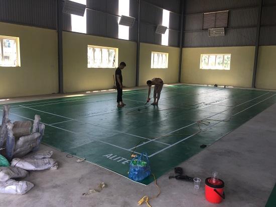 Thi công sân cầu lông tại Châu Sơn - Hà Nam