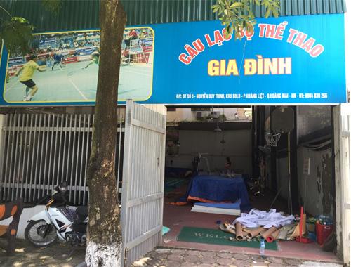 Thi công sân cầu lông tại bán đảo Linh Đàm, Thành phố Hà Nội