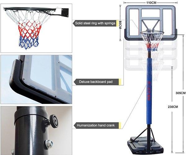 Thiết kế trụ bóng rổ S021A