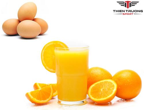 Trứng và nước cam