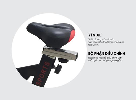 Yên ngồi xe đạp tập YB-7800