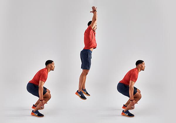 Bài tập Jump Squat hỗ trợ tăng cân