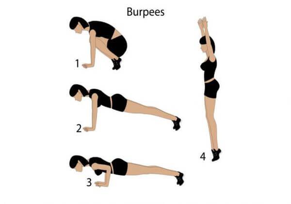Bài tập Burpees giảm mỡ toàn thân cho nữ