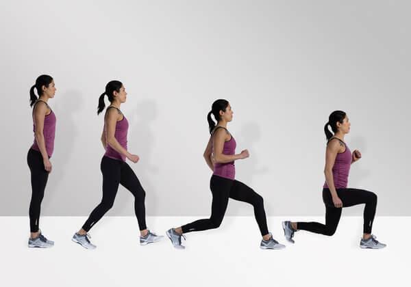 Bài tập Lunges giảm cân toàn thân cho nữ