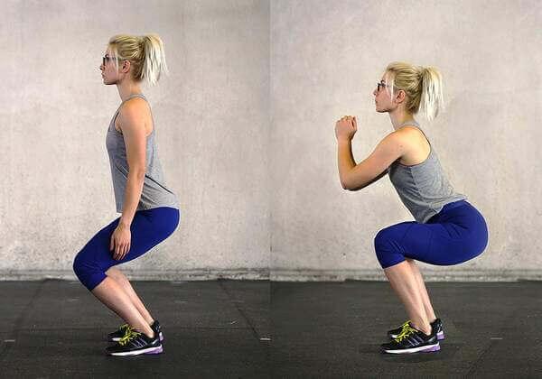 Bài tập Squat giảm mỡ toàn thân cho nữ sẽ giúp chị em sở hữu vòng 3 căng tròn, săn chắc.