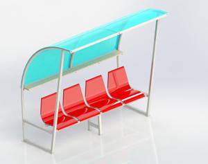 Băng 4 ghế nhựa