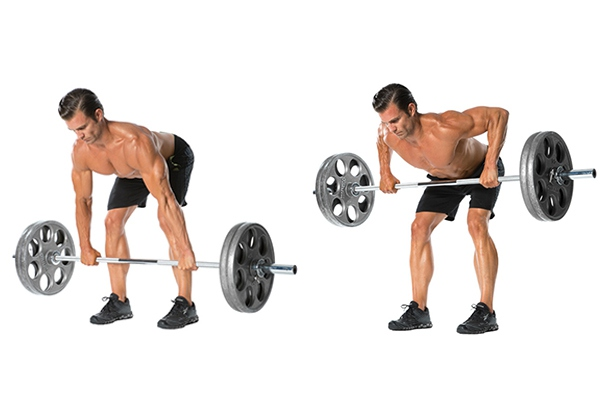 Bent Over Barbell Row tăng Testosterone