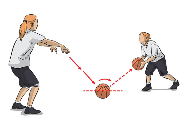 Bounce pass