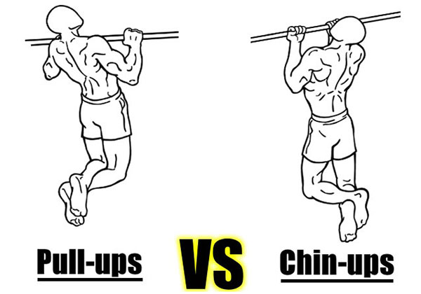 Chin Up với Pull Up