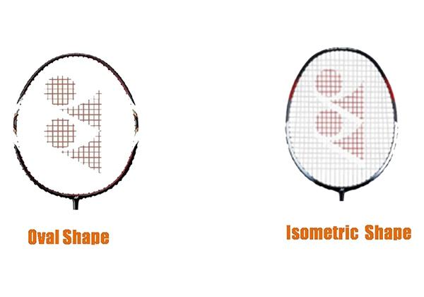 Chọn hình dạng khung vợt