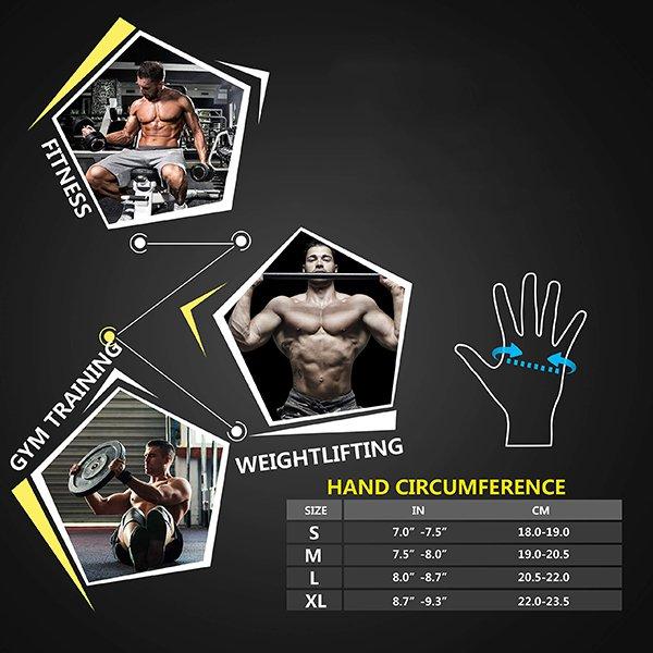 Chọn size găng tay tập Gym