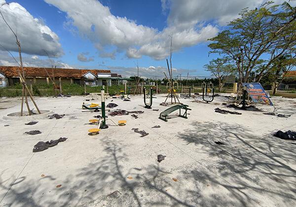 Công trình lắp đặt thiết bị thể thao ngoài trời của Thiên Trường