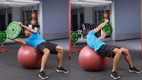 Gym Ball Russian Twist