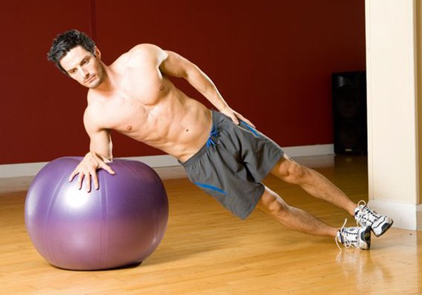 Gym Ball Side Plank