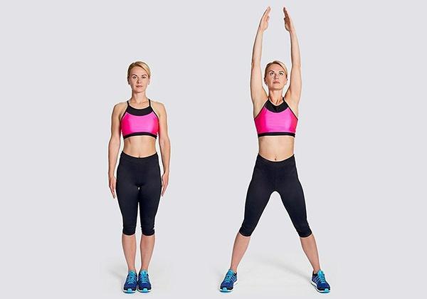 Bài tập Jumping Jacks giúp đốt cháy mỡ thừa, hỗ trợ giảm cân toàn thân hiệu quả