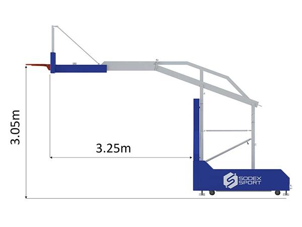 Kích thước trụ bóng rổ S14650