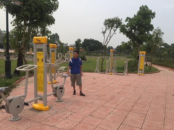 Lắp DCTT tại công viên Bắc Giang 1