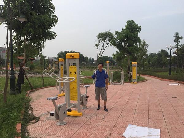 Lắp DCTT tại công viên Bắc Giang 4