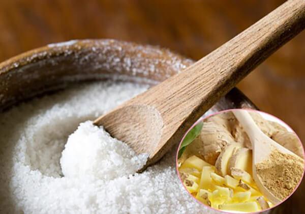 Massage giảm mỡ bụng bằng gừng và muối.