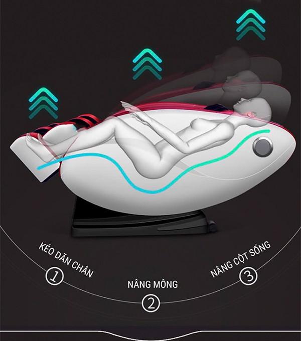 Massage không trọng lực ghế Kachi MK-119