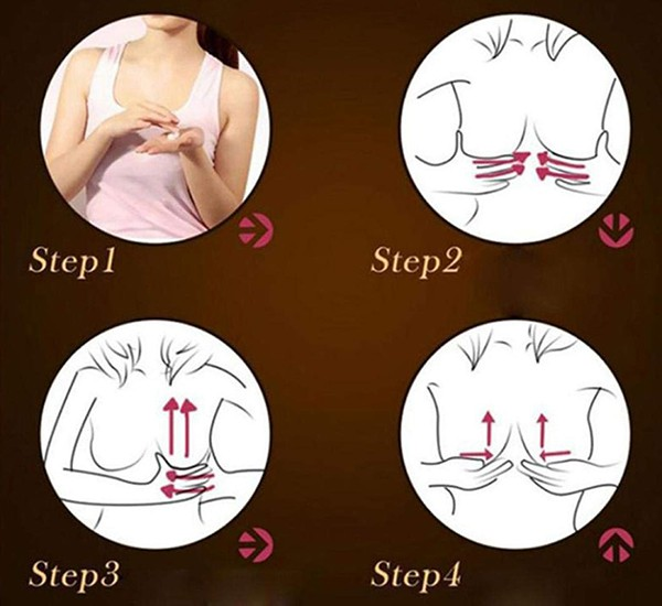 Massage ngực bằng tinh dầu