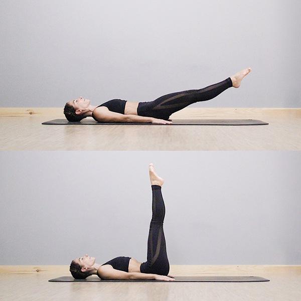 Nâng hạ 2 chân giảm mỡ hông