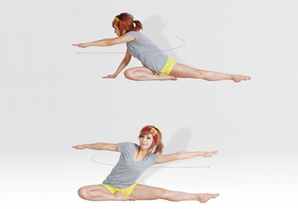 Ngồi vặn lưng giảm mỡ bụng