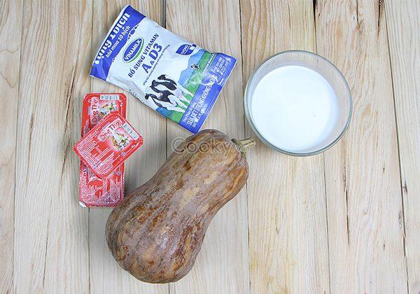 Nguyên liệu làm sữa bí đỏ tăng cân