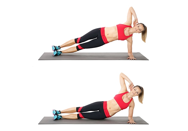 Side Plank Hip Dips giảm mỡ hông
