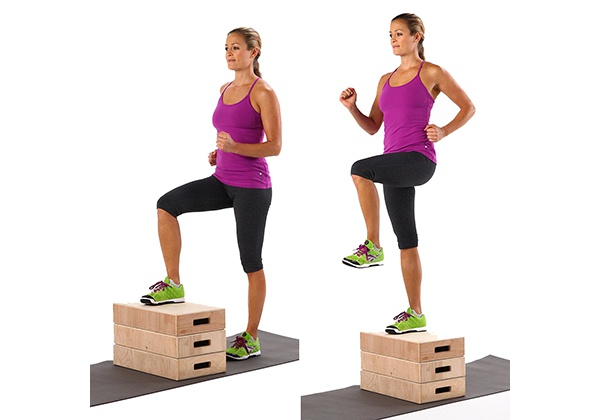 Step-up with Knee Raise
