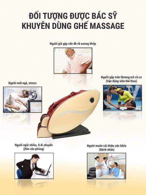 Sử dụng ghế massage Kachi MK-119