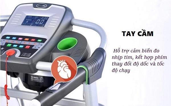 tay cầm cảm biến đo nhịp tim máy chạy bộ