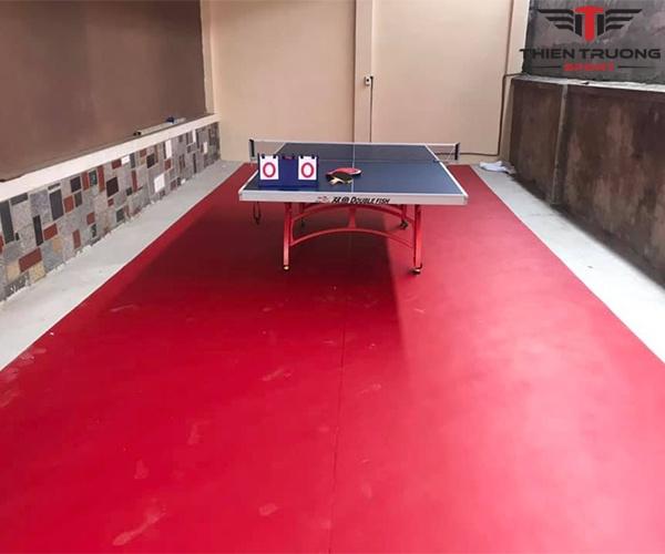Thảm sân bóng bàn Enlio A-14145 dùng trải sàn cho nhà thi đấu