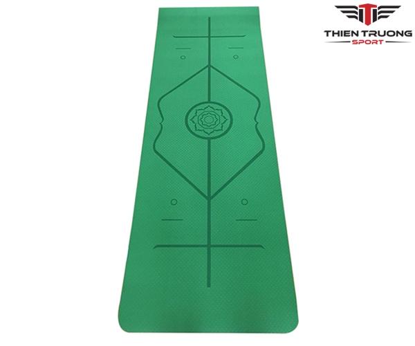 Thảm Yoga định tuyến TPE 8mm 1 lớp tặng kèm túi giá rẻ Nhất
