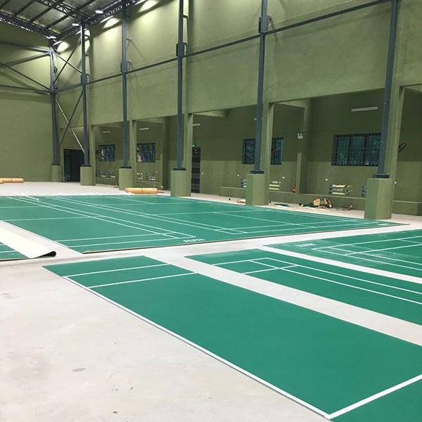 Thi công sân cầu lông tại Trường ĐH Thể dục thể thao Bắc Ninh 1