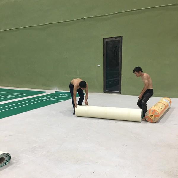 Thi công sân cầu lông tại Trường ĐH Thể dục thể thao Bắc Ninh