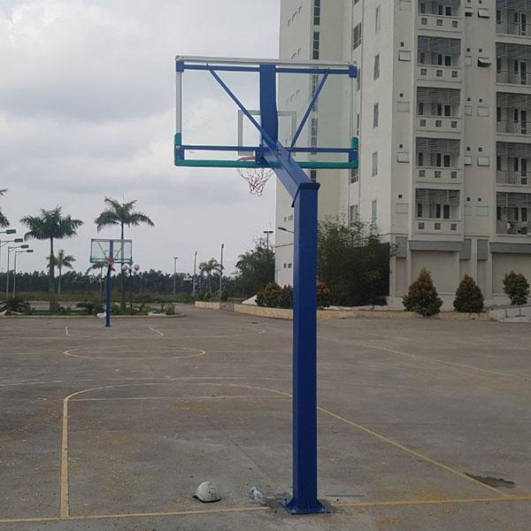 Trụ bóng rổ bảng kính cường lực