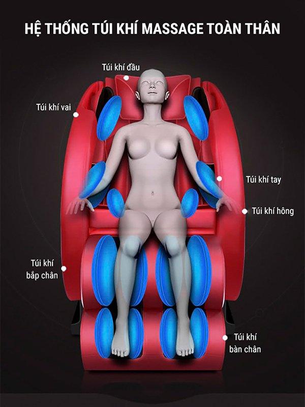Túi khí ghế massage Kachi MK-119